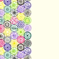 Abstract hand drawn pattern card art circles unique series of image template frame design for Royalty Free Stock Image