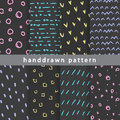 Abstract hand-drawn patterns
