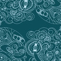 Abstract hand drawn retro waves pattern wavy background vector illustration Royalty Free Stock Photo