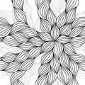 Abstract hand drawn seamless pattern first by and then re digitally not scanned Royalty Free Stock Images