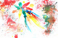 Abstract hand drawn watercolor background Stock Photography