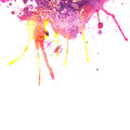 Abstract hand drawn watercolor background illustration stain watercolors colors wet on wet paper composition for Stock Image