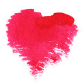 Abstract hand drawn watercolor heart valentine s background Royalty Free Stock Images