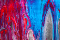Abstract Hand Painted Mixed Me...