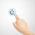Abstract Hand Pressing Power Button Royalty Free Stock Photo