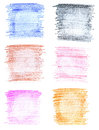 Abstract handmade various crayon backgrounds Stock Photo