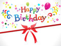 Abstract happy birthday template Stock Photography