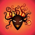 Abstract head of beast with tentacles vector Royalty Free Stock Photo