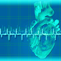 Abstract health and medical backgrounds with human heart Royalty Free Stock Image