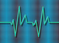 Abstract heart beats cardiogram background Stock Photography