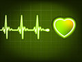 Abstract heart beats cardiogram. EPS 8 Stock Photos