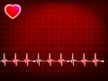 Abstract heart beats cardiogram eps vector file included Royalty Free Stock Photos