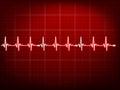 Abstract heart beats cardiogram. EPS 10