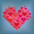 Abstract heart on blue background hearts strict Royalty Free Stock Photos