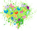 Abstract heart butterfly vector Royalty Free Stock Photo