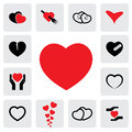 Abstract heart icons signs for healing love happiness vector graphic this illustration represents concepts of passion platonic Royalty Free Stock Image