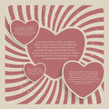 Abstract heart retro grunge background vector illustration Stock Photo