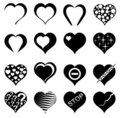 Abstract Heart. Set of Vector Illustrations. Stock Images