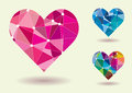 Abstract heart shape colorful vector illustration Royalty Free Stock Images