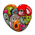Abstract heart st valentine s day greeting card Stock Photography