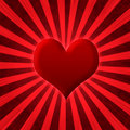 Abstract heart starburst Royalty Free Stock Photo