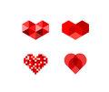 Abstract heart symbols symbos isolated on white Stock Photo