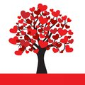 Abstract heart tree Royalty Free Stock Image