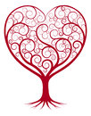 Abstract heart tree illustration with the branches growing into a shape Stock Images