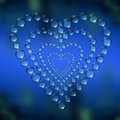 Abstract heart water drops Royalty Free Stock Images