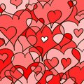 Abstract hearted background doodle vector art eps Stock Photography