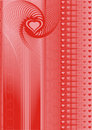 Abstract hearts Royalty Free Stock Photos
