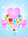 Abstract hearts background Royalty Free Stock Images