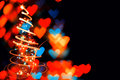 Abstract hearts background from the christmas lights Royalty Free Stock Photo