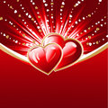 Abstract hearts burst background Stock Images