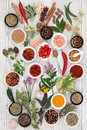Abstract Herb and Spice Background Royalty Free Stock Photo