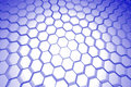 Abstract hexagon background (3D xray blue Stock Image