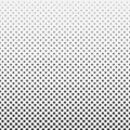 Abstract hexagon halftone pattern background black and white
