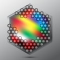 Abstract hexagon lights colorful background Royalty Free Stock Photography
