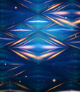Abstract hexagon pattern blue shiny background vector illustration Stock Photos