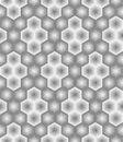 Abstract hexagon seamless pattern from striped elements. Diamond shape lattice