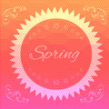 Abstract hexagon spring background - eps10