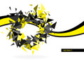 Abstract hi tech background clip art Royalty Free Stock Image