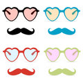Abstract hipster glasses with mustache illustration Royalty Free Stock Photo