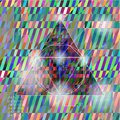 Abstract hipster triangle colorful vector background with a Stock Image