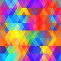 Abstract hipsters seamless pattern with bright colored rhombus. Geometric background rainbow color. Vector