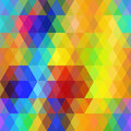 Abstract hipsters seamless pattern with bright rainbow color rhombus. Geometric background. Vector