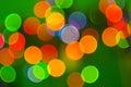 Abstract Holiday Lights Stock Photo