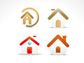 Abstract home icon set Stock Image