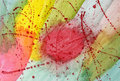Abstract hot spot an watercolor painting in various bright colors property release on file Royalty Free Stock Photos
