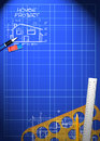 Abstract house blueprint poster background with space Stock Images